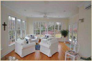 Adams Project :Sunroom Addition Interior by Corbett Design Build