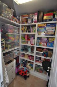 Branigan Project : Playroom Closet for toys by Corbett Design Build