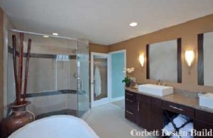 Buckley Project : Bathroom after renovation by Corbett Design Build