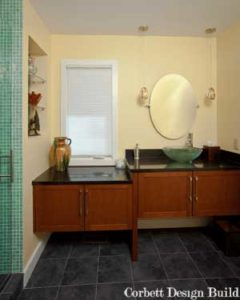 Buckley Project : Washroom before renovation by Corbett Design Build