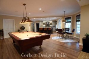 Kearns Project : Game room  Renovation by Corbett Design Build