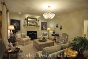 Wake Project : Living room  Renovation by Corbett Design Build