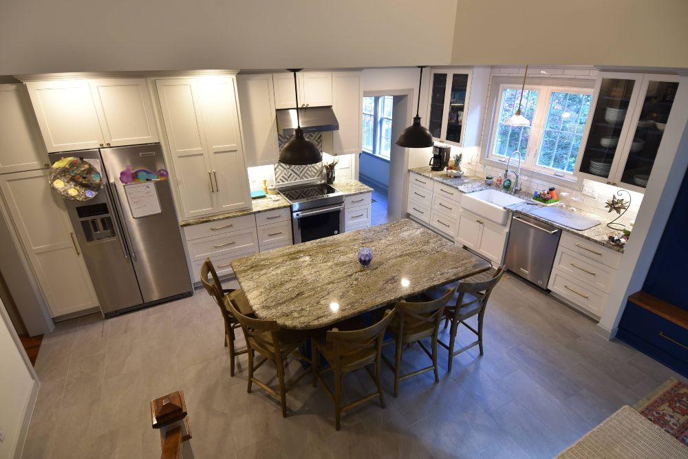 Cary Project Of Split Level Kitchen Remodel In Raleigh Nc