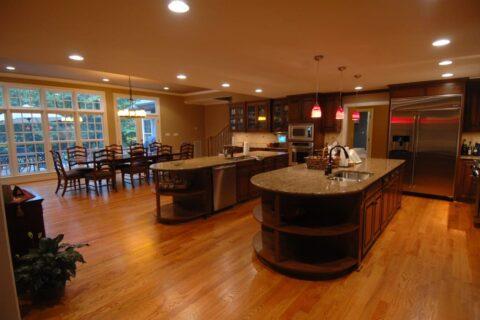Double Island Kitchen Design by Corbett Design Build