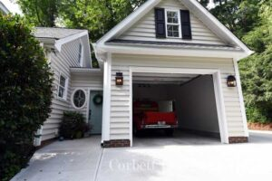 Garage Addition with Enclosed Breezeway in Raleigh, NC